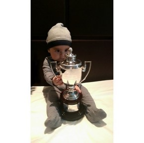 Mark Philippoussis: We did it daddy! 2014 Wimbledon Invitational Men's Doubles Champions.