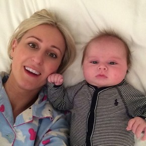 "Roxy Jacenko with her son Hunter ""discussing important stuff"""