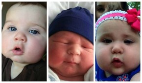 In honour of Prince George, chubby-cheeked babies galore.