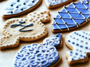 Iced ornament cookies