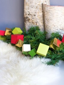 12 Days of HoliDIY: Geometric garland