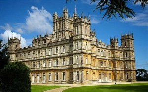 The filming of Downton Abbey at Highclere Castle