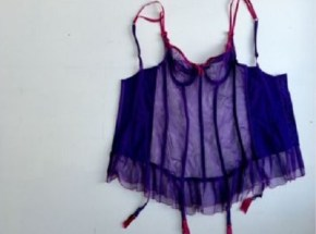 A woman sells her corset on eBay with a long confession.