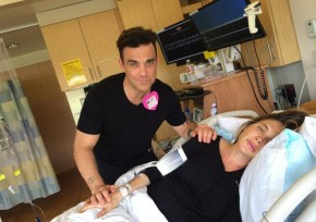 Robbie Williams reveals his newborn son's name.