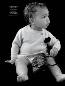 Kim and Kanye's daughter North
