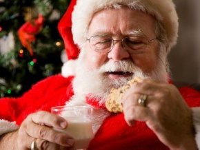 Guess how many calories Santa will scoff tonight?