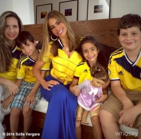 Sofia Vegara with her family