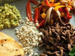 Steak and Gorgonzola Fajitas