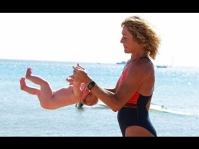VIDEO: What this woman calls 'baby yoga' looks more like glorified child abuse.