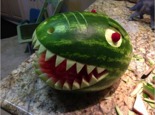 Ever thought of doing this with a watermelon? Us neither.