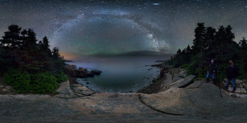 Milky Way From Ocean Path