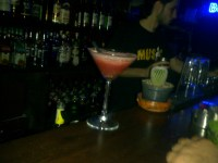 This is embaressing. We hit up a bar in Hamra Sunday night, which I can't for the life of me remember it's name, it was something like PEE BEE PEE WEE!!?? All I know, is that melon martini was fab