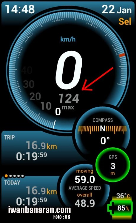 Top speed NVL versi GPS android
