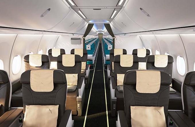business class cabin on silkair's new 737 max 8