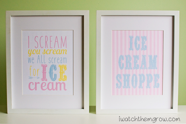 Free Printable Ice Cream Posters