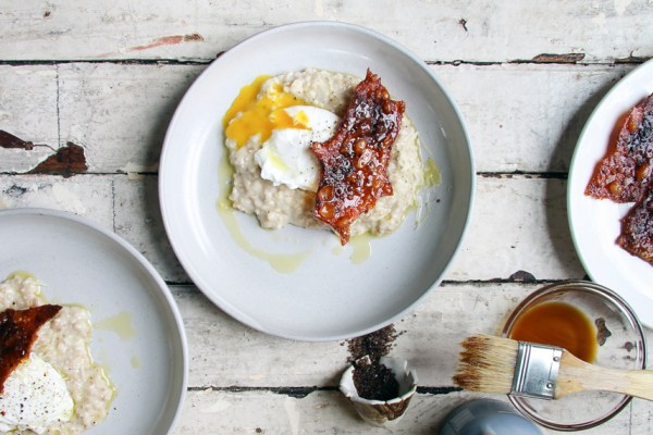 """""""Bacon"""" 'n' Eggs Oatmeal 