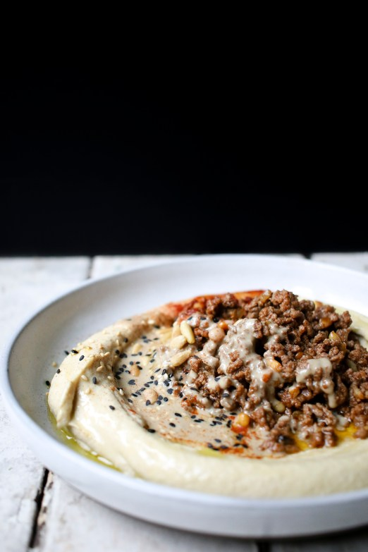 Baharat Spiced Beef Hummus   I Will Not Eat Oysters