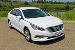The 2015 Hyundai Sonata is one of many vehicles with $500 Auto Show Bonus Cash during the 2015 Cleveland Auto Show.
