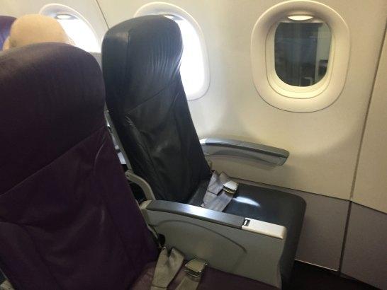 1番先頭の座席1A