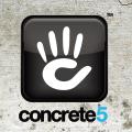 concrete5 logo general english