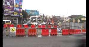 Lokasi proyek pembangunan flyover Antapani. (Istimewa)