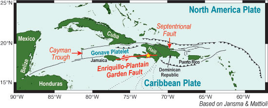 Haiti earthquake map, major earthquakes, earthquake Jamaica, Port Royal earthquake