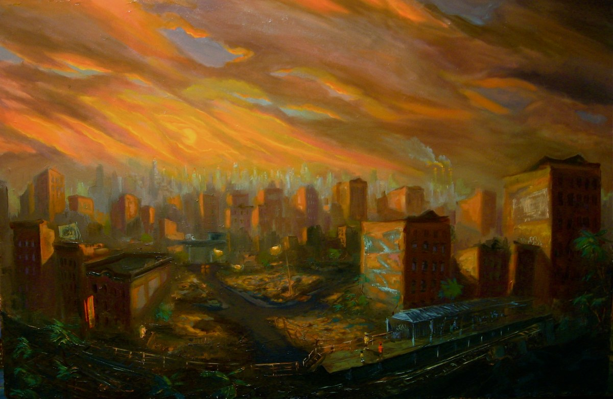"When Seasons Change, oil on canvas, 32x48"", 2004"
