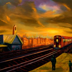 "Elevated Station, oil on canvas, 34x48"", 2004"