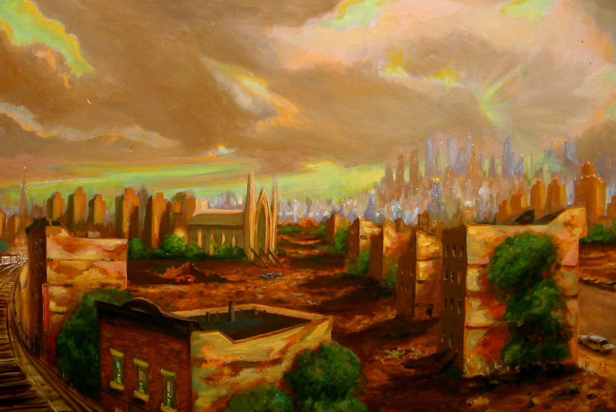 "Periphery, oil on canvas, 36x48"", 2010"
