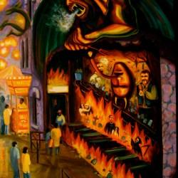 "Dante's Inferno, oil on canvas, 34x48"", 2007"