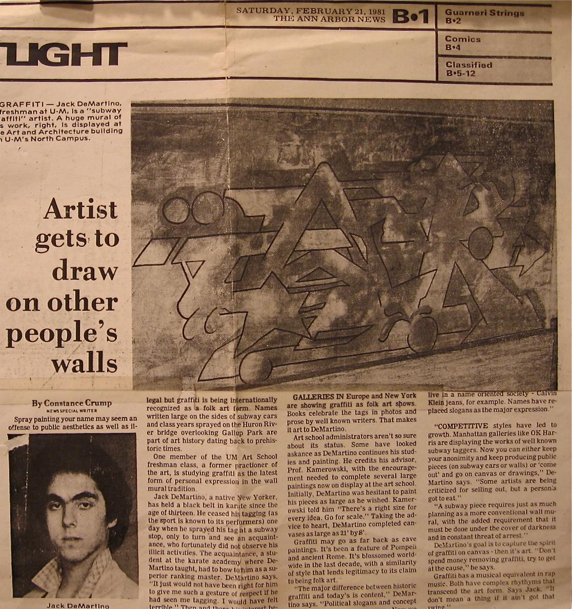 Ann Arbor News, 1981