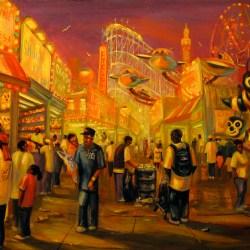 "Shoot the Clown, oil on panel, 24x36"", 2008"