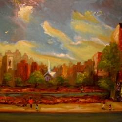 "Periphery 2, oil on panel, 16x22"" 2014"