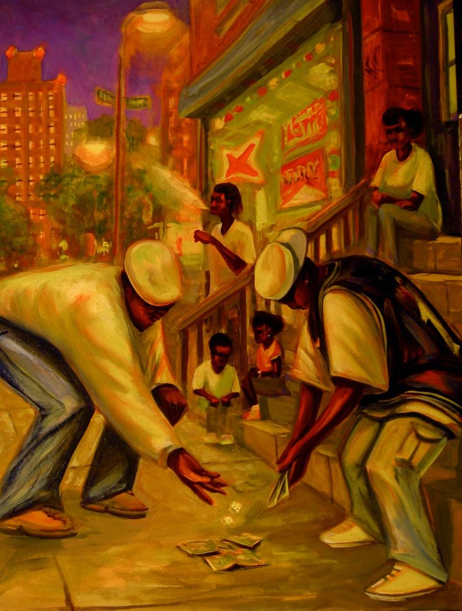 """Snake Eyes, oil on panel, 18x24"""" 2014"""