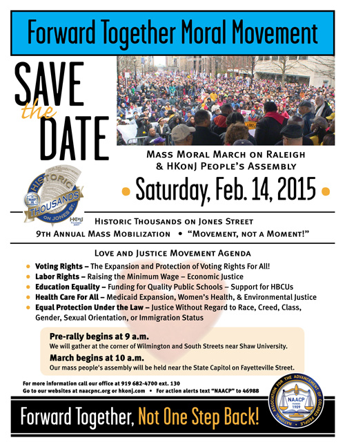 Moral March on Raleigh, Feb. 14, 2015