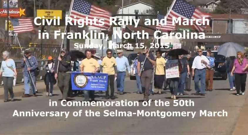 March 15, 2015: Civil Rights Rally and March, Franklin, North Carolina