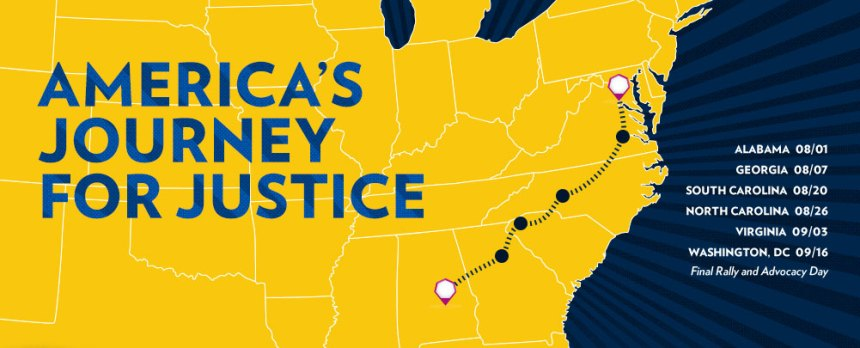 NAACP Journey for Justice Route