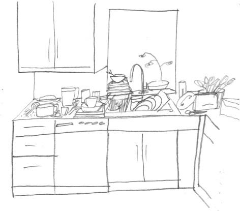messy kitchen Chores: Take 2