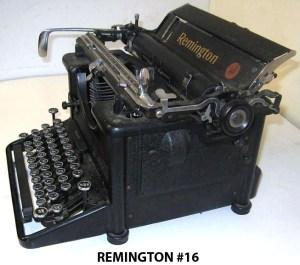 Reminton No 16 typewriter