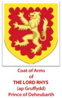 Coat of arms Lord Rhys caption