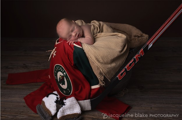 hockey, newborn photographer, ham lake