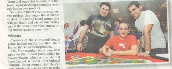 Gulf News: A Fun and Games MBA -- Click for Full Clipping