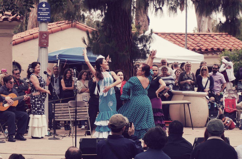 spanish dancing at balboa park, san diego