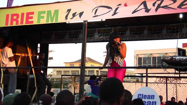 Ishawna Performing At Irie FM Road Show (Falmouth, Montego Bay) 2013