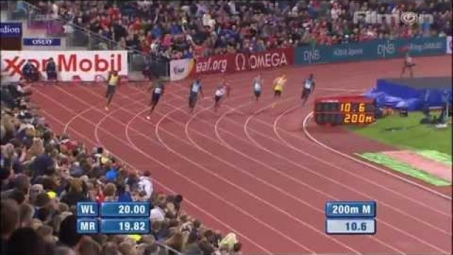 Usain Bolt Wins In 19.79 (+1.7m/s) 200m Oslo Diamond League 2013