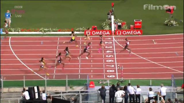 Allyson Felix Beaten by Murielle Ahoure 22.36 NR 200m Rome Diamond League 2013