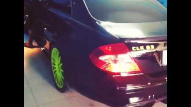 Asafa Powell Black Mercedes-Benz CLK 63 AMG