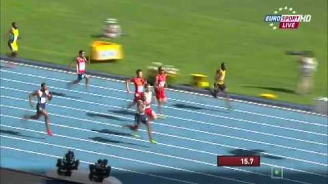 Ellington(GBR) 20.55Q Livermore (JAM) 20.59Q heat 5 200m IAAF World Champs 2013