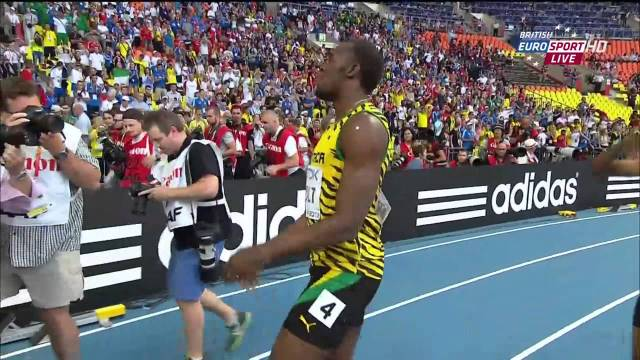 Usain Bolt 19.66 wins 200m Final Weir 2nd Mitchell 3rd IAAF World Champs 2013