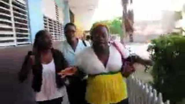 Jamaican Mothers Goes To High School To Confront Teacher.